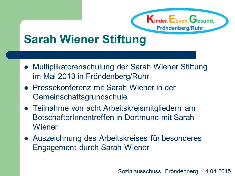 Sarah Wiener Stiftung Multiplikatorenschulung der Sarah Wiener Stiftung im Mai 2013 in Fröndenberg/Ruhr.