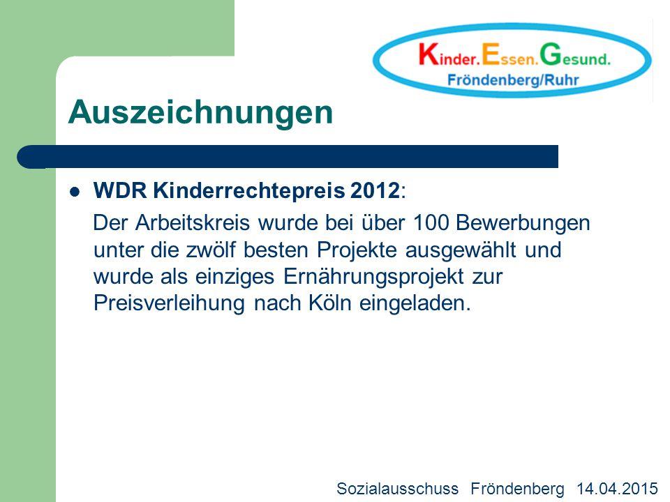 Auszeichnungen WDR Kinderrechtepreis 2012: