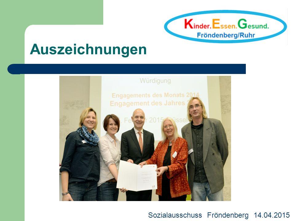 Auszeichnungen Sozialausschuss Fröndenberg 14.04.2015