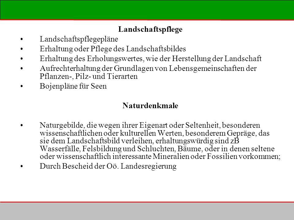 Landschaftspflege Landschaftspflegepläne. Erhaltung oder Pflege des Landschaftsbildes.