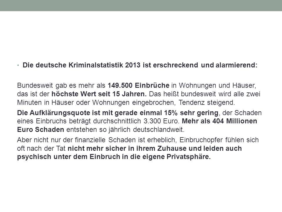 Die deutsche Kriminalstatistik 2013 ist erschreckend und alarmierend: