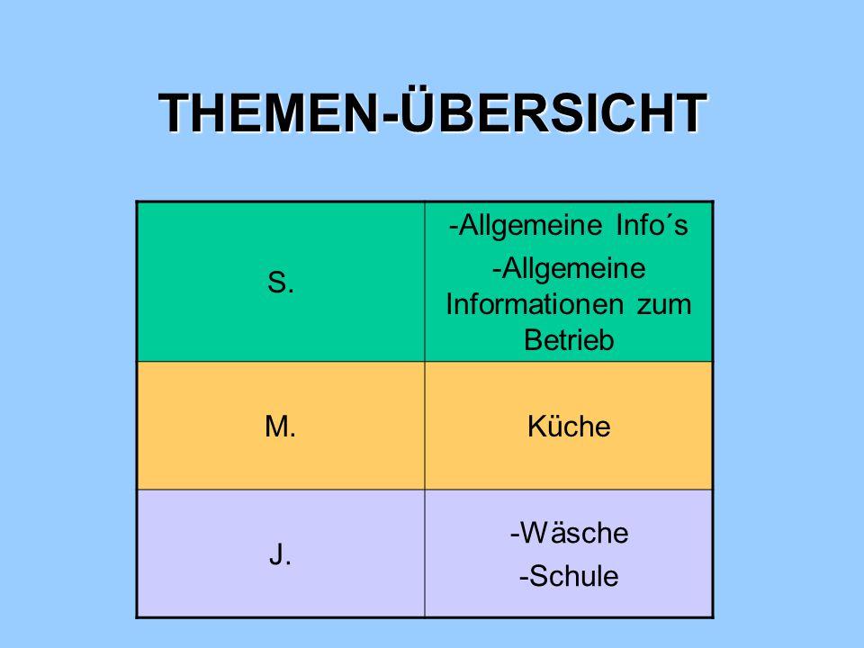 -Allgemeine Informationen zum Betrieb
