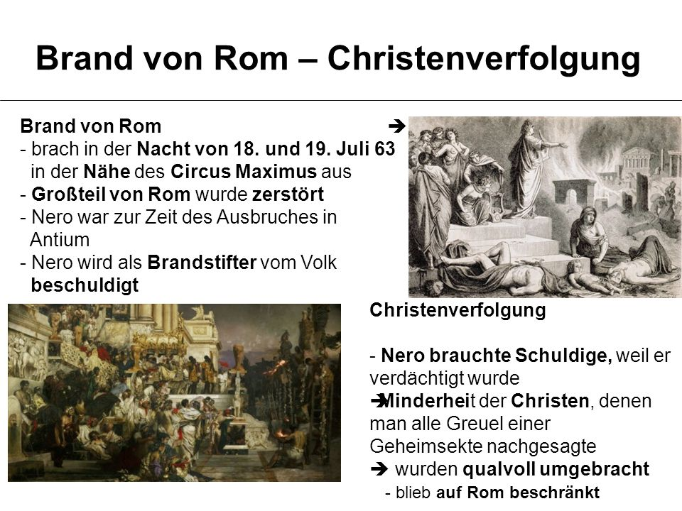 Brand von Rom – Christenverfolgung