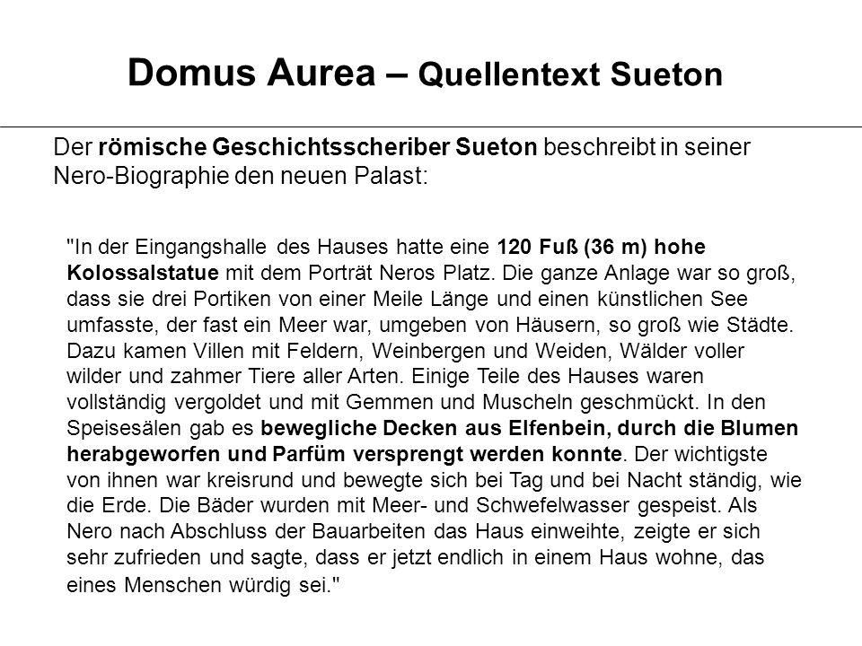Domus Aurea – Quellentext Sueton