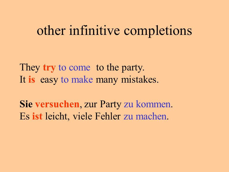 other infinitive completions