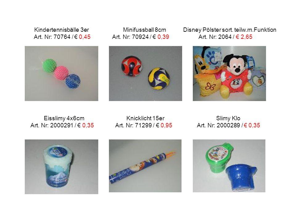 Kindertennisbälle 3er Minifussball 8cm Disney Pölster sort. teilw. m