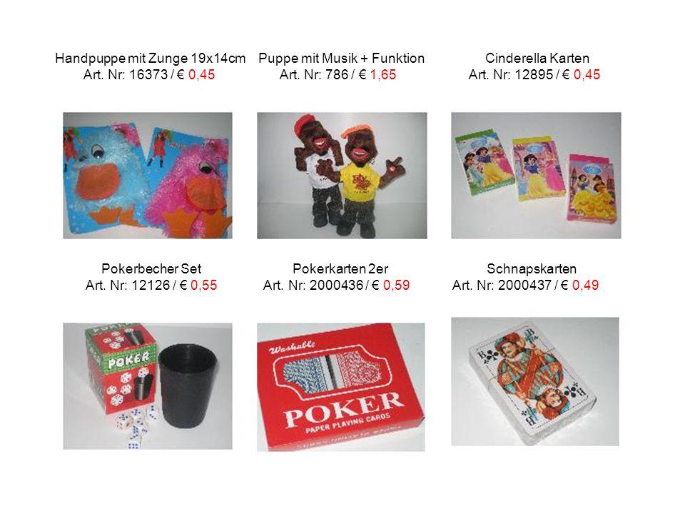 Handpuppe mit Zunge 19x14cm Puppe mit Musik + Funktion Cinderella Karten