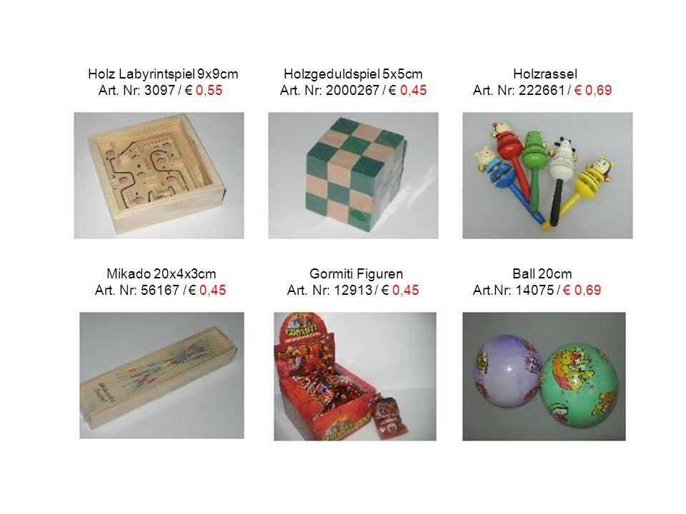 Holz Labyrintspiel 9x9cm Holzgeduldspiel 5x5cm Holzrassel
