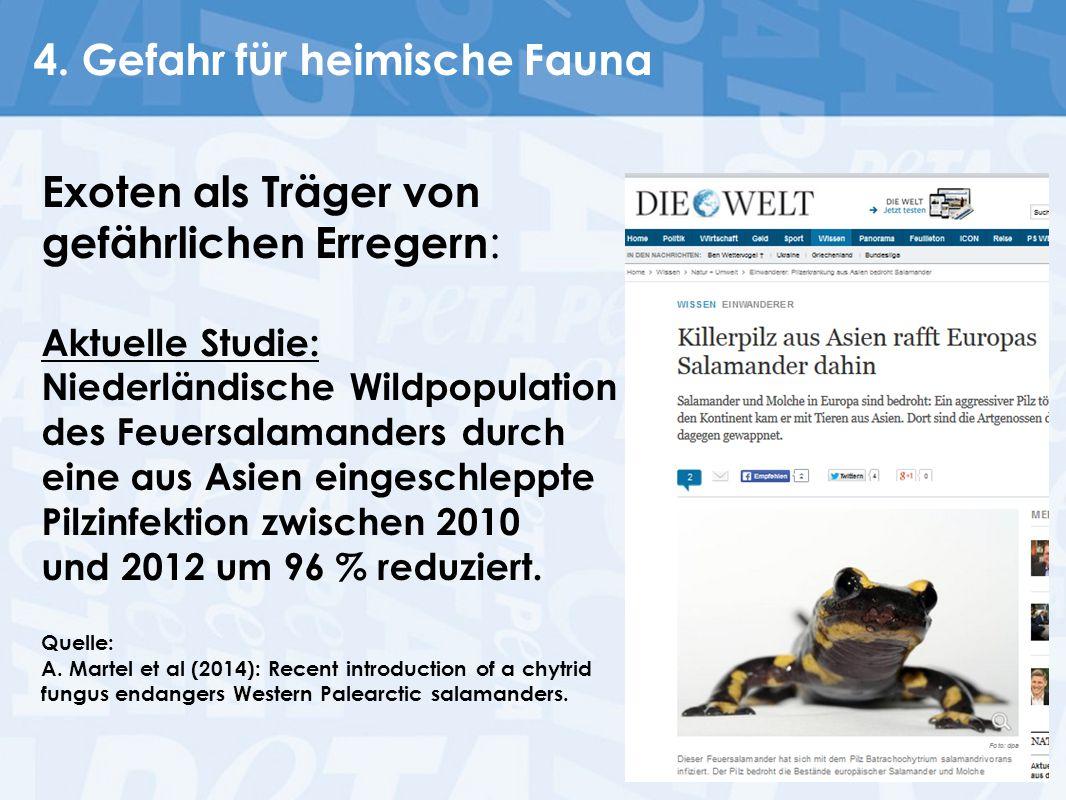 4. Gefahr für heimische Fauna
