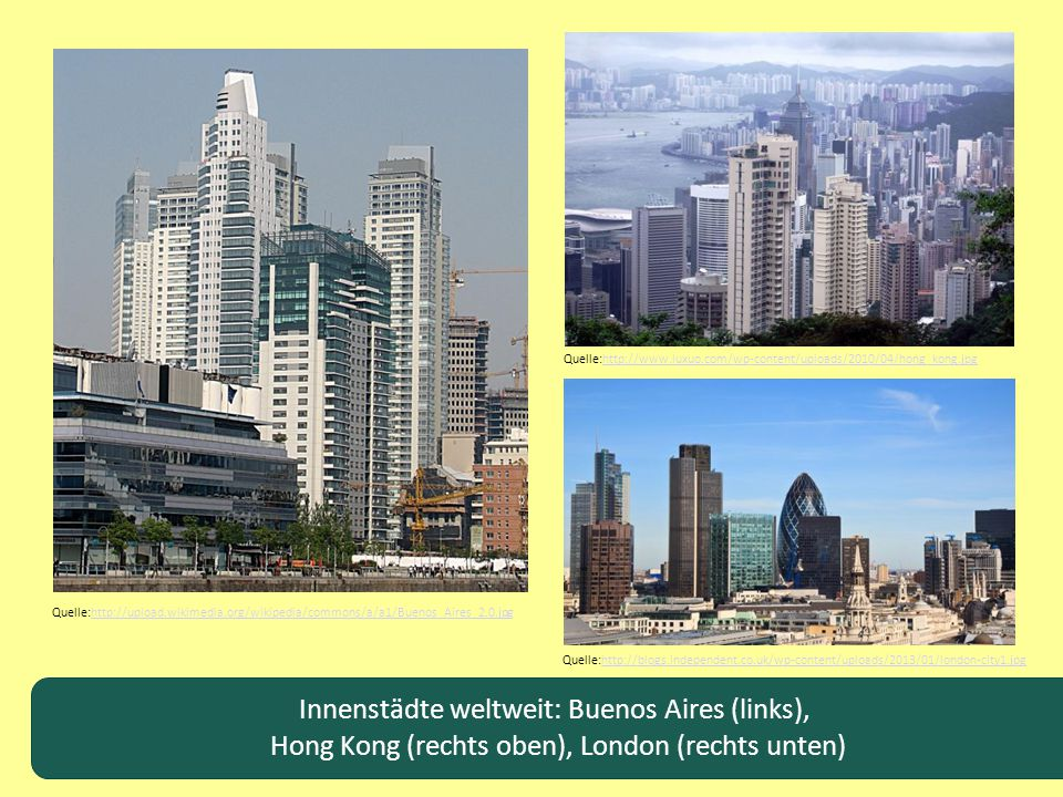 Innenstädte weltweit: Buenos Aires (links),