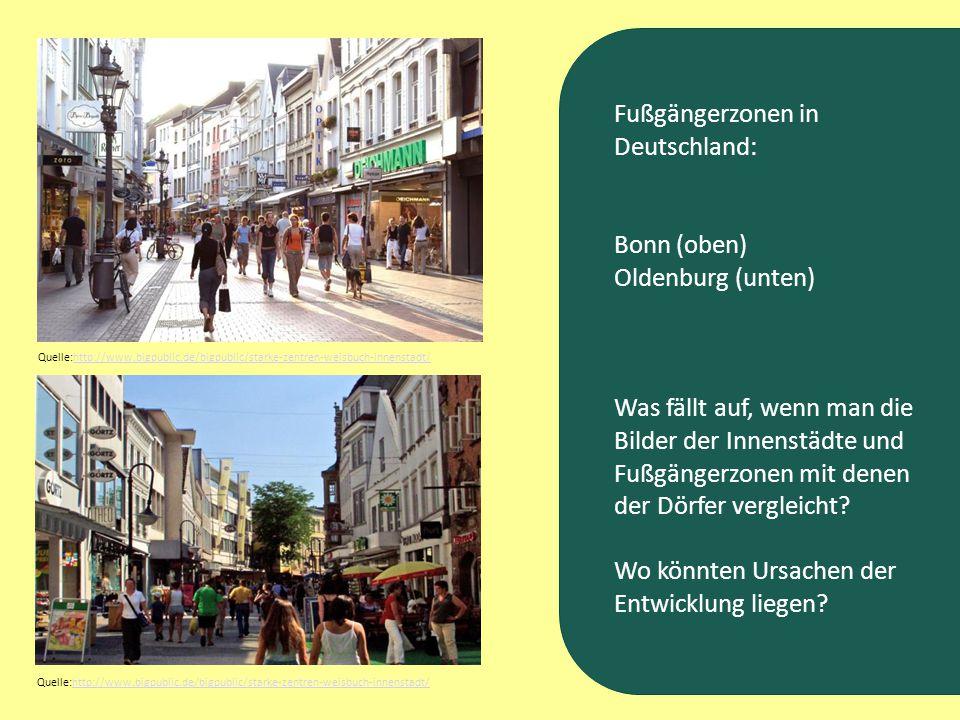 Fußgängerzonen in Deutschland: