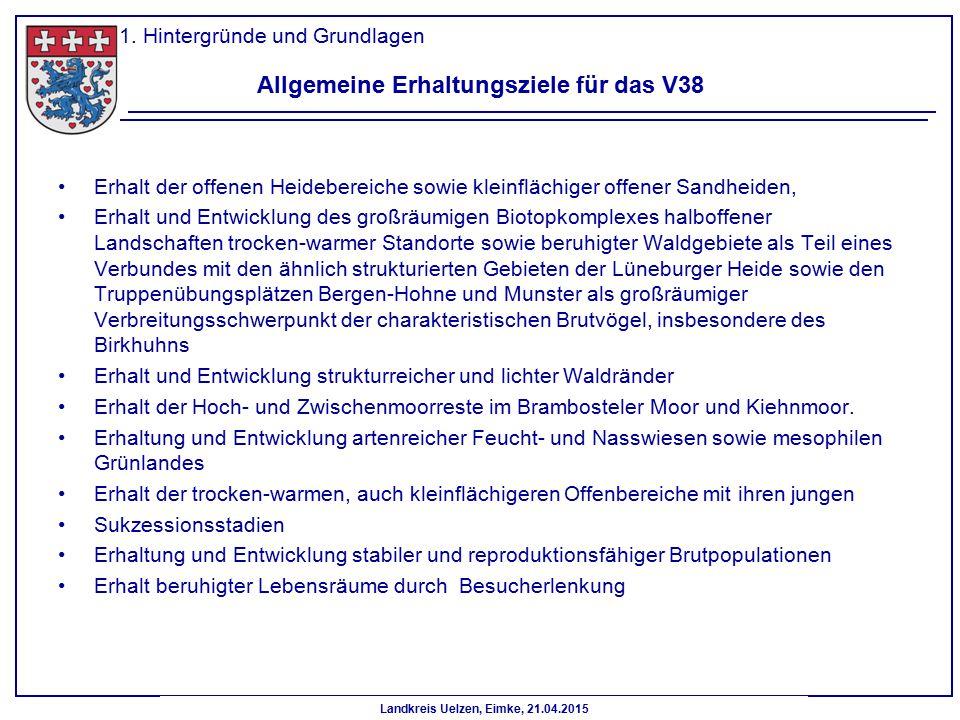 Allgemeine Erhaltungsziele für das V38