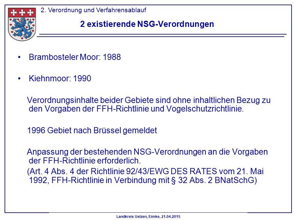2 existierende NSG-Verordnungen
