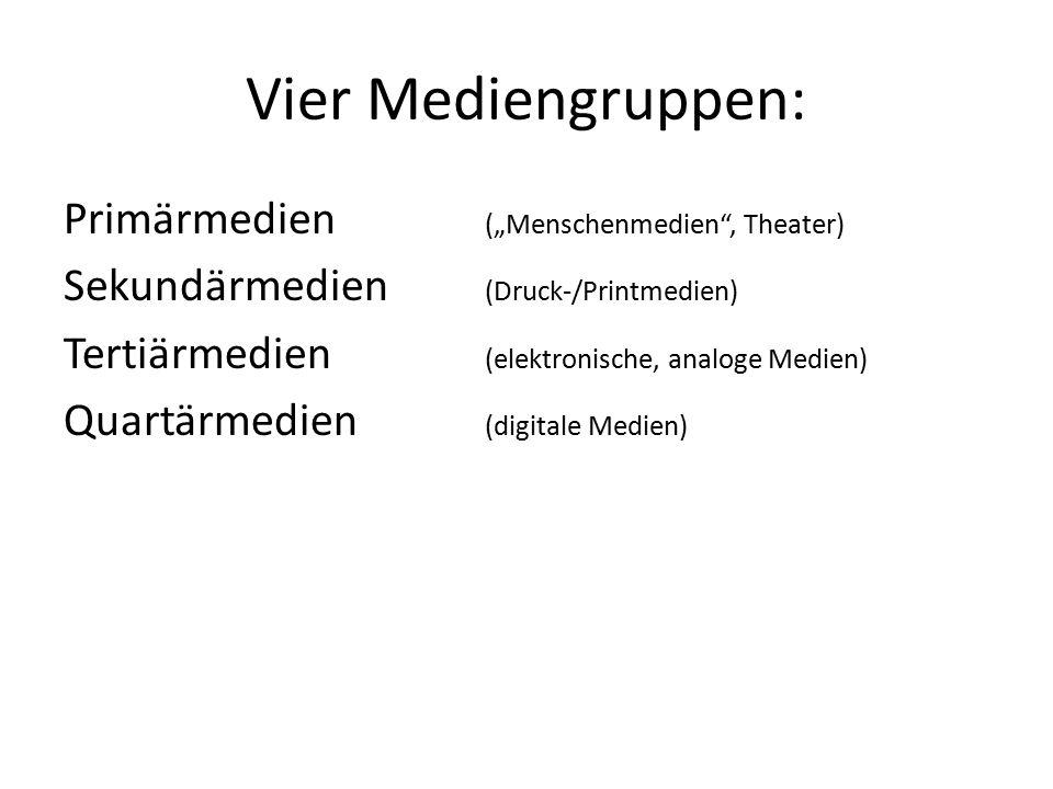 Vier Mediengruppen: