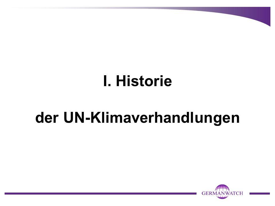 I. Historie der UN-Klimaverhandlungen