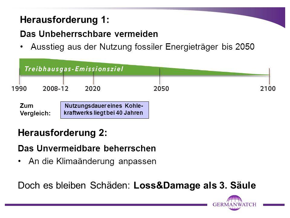 Doch es bleiben Schäden: Loss&Damage als 3. Säule