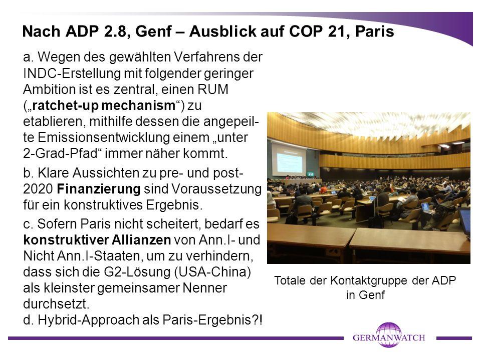 Nach ADP 2.8, Genf – Ausblick auf COP 21, Paris