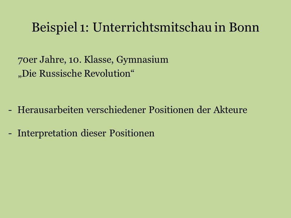 Beispiel 1: Unterrichtsmitschau in Bonn