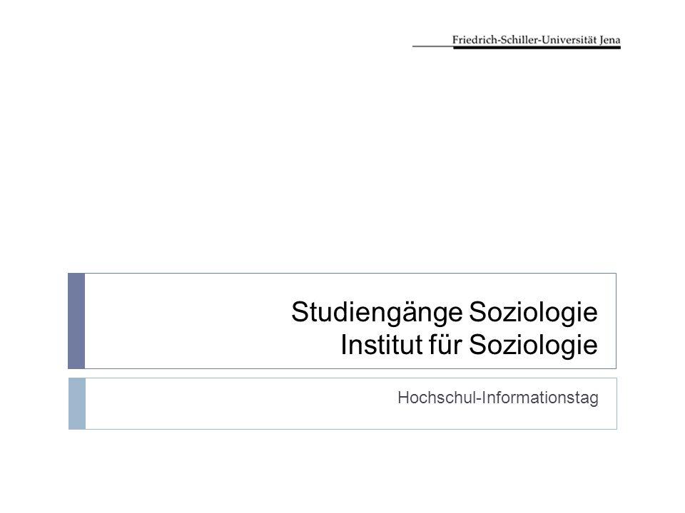 Studiengänge Soziologie Institut für Soziologie