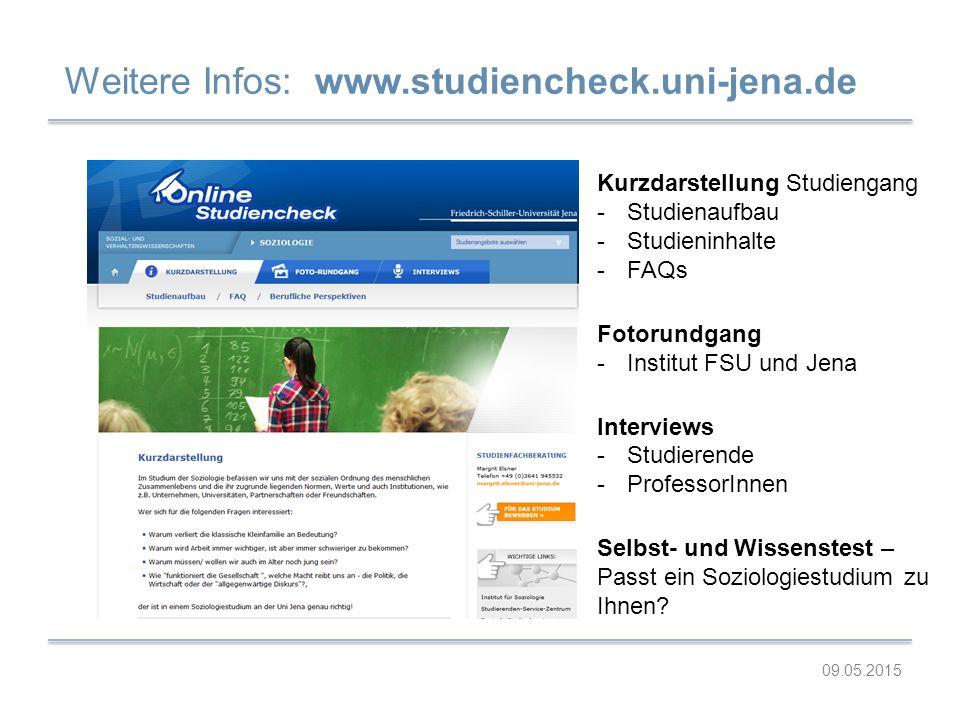 Weitere Infos: www.studiencheck.uni-jena.de