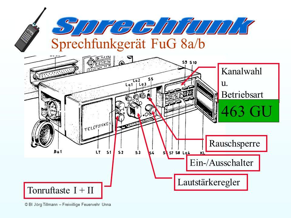 463 GU Sprechfunk Sprechfunkgerät FuG 8a/b Kanalwahl u. Betriebsart