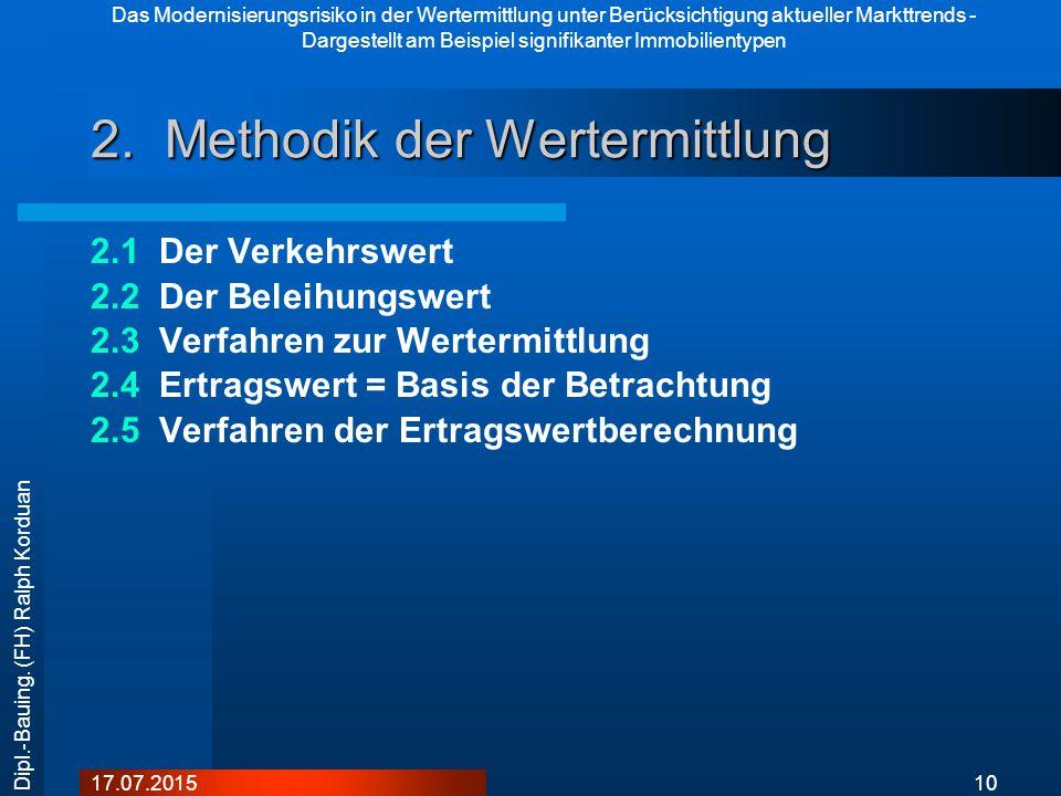 2. Methodik der Wertermittlung