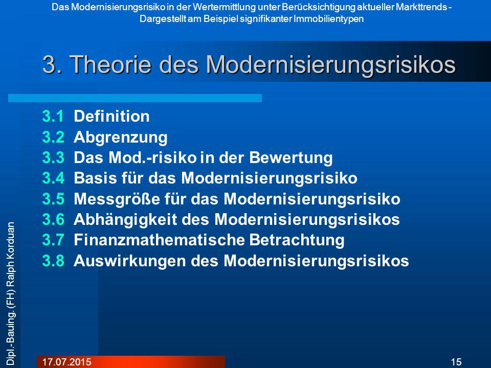 3. Theorie des Modernisierungsrisikos