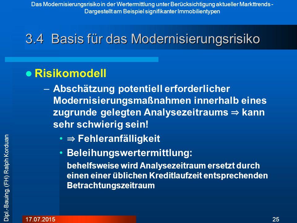 3.4 Basis für das Modernisierungsrisiko