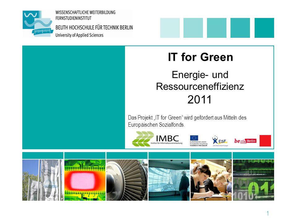 Energie- und Ressourceneffizienz