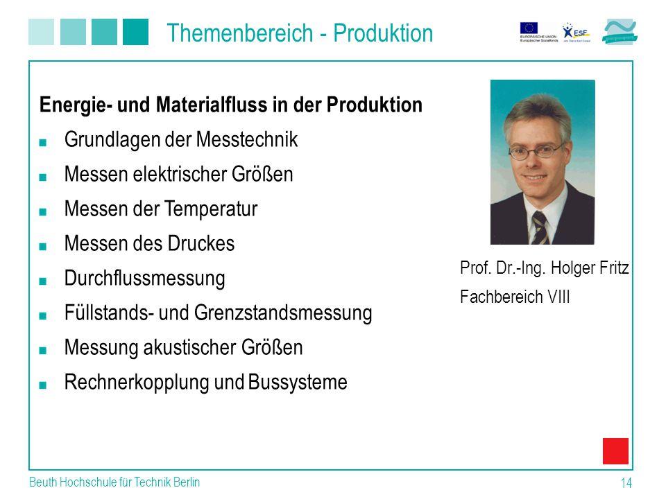 Themenbereich - Produktion