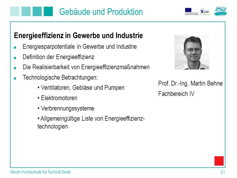 Gebäude und Produktion