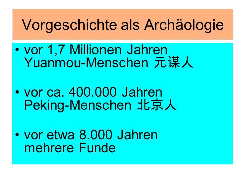 Vorgeschichte als Archäologie