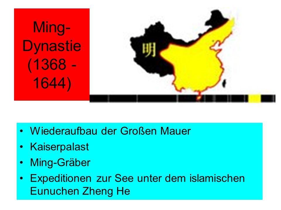 Ming-Dynastie (1368 - 1644) Wiederaufbau der Großen Mauer Kaiserpalast