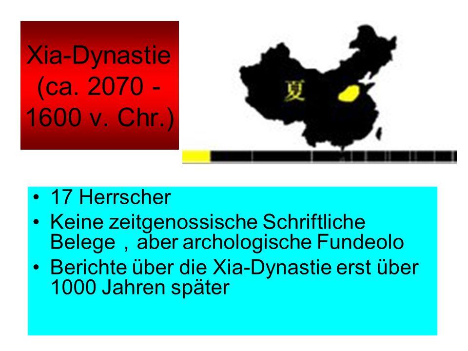 Xia-Dynastie (ca. 2070 - 1600 v. Chr.)