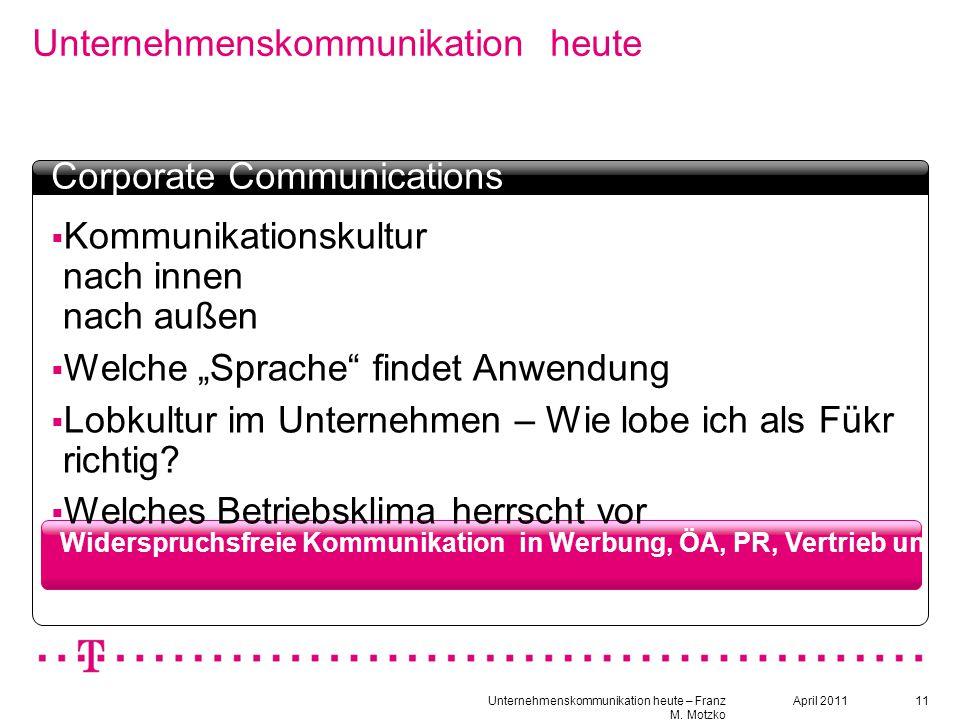 Unternehmenskommunikation heute