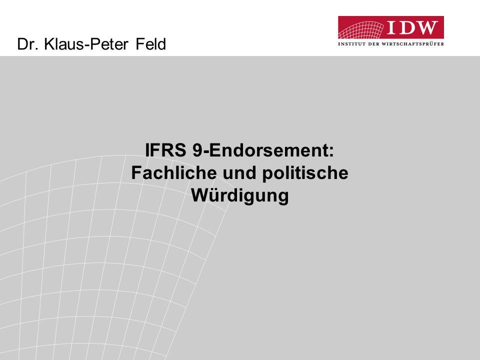 IFRS 9-Endorsement: Fachliche und politische Würdigung
