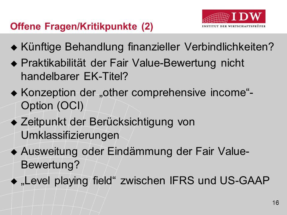 Offene Fragen/Kritikpunkte (2)