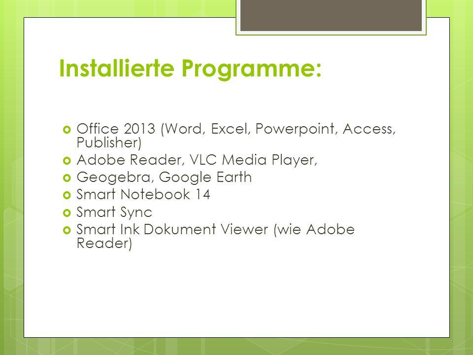 Installierte Programme: