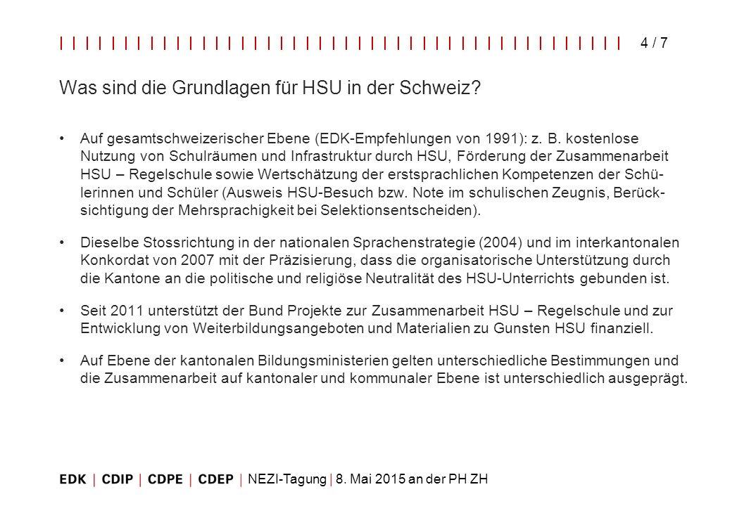 Was sind die Grundlagen für HSU in der Schweiz