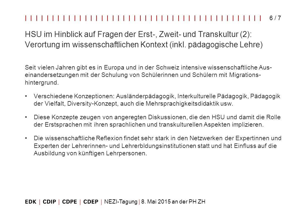 HSU im Hinblick auf Fragen der Erst-, Zweit- und Transkultur (2): Verortung im wissenschaftlichen Kontext (inkl. pädagogische Lehre)