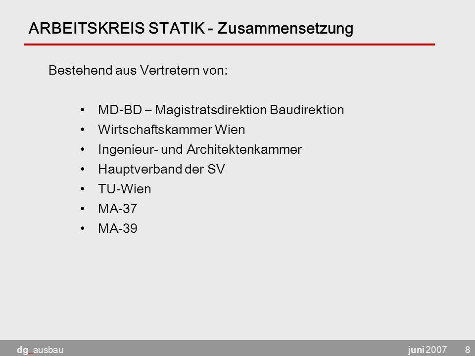 ARBEITSKREIS STATIK - Zusammensetzung