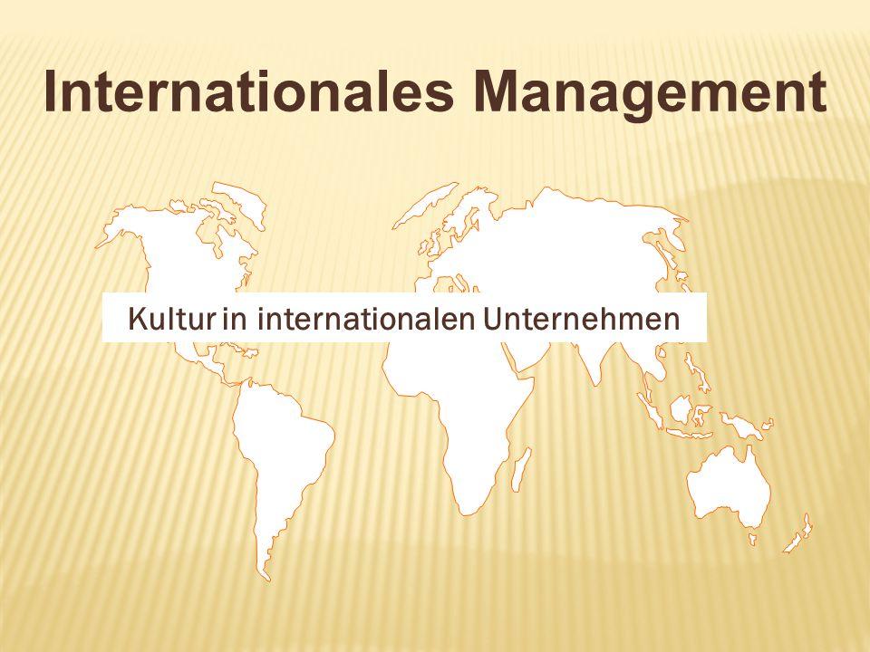 Kultur in internationalen Unternehmen
