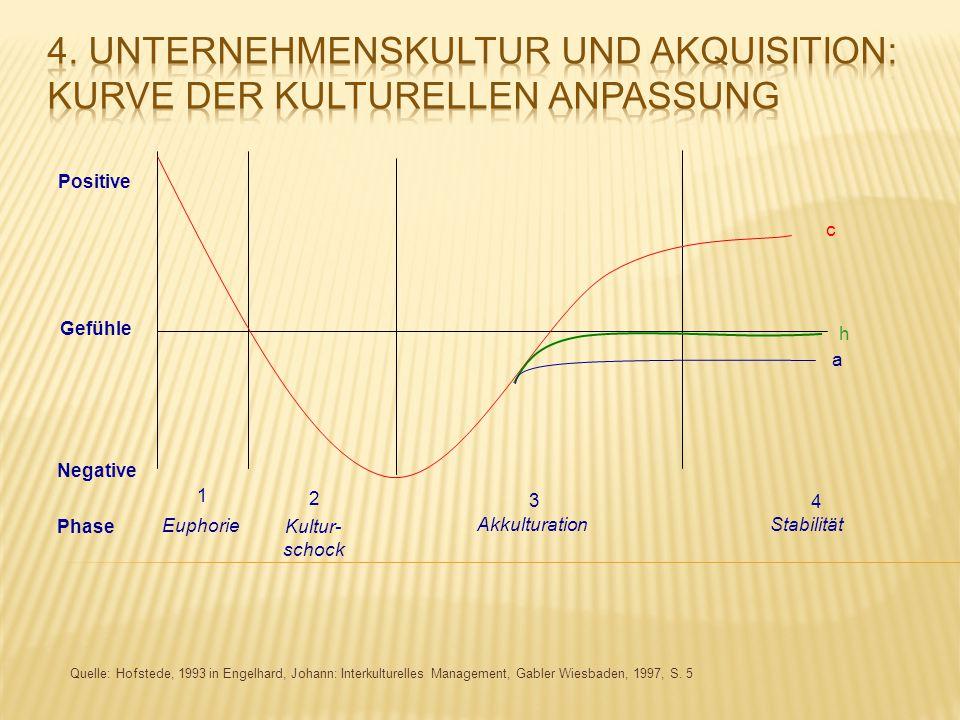 4. Unternehmenskultur und Akquisition: Kurve der kulturellen Anpassung