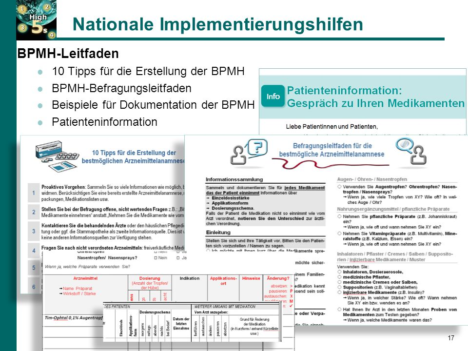 Nationale Implementierungshilfen
