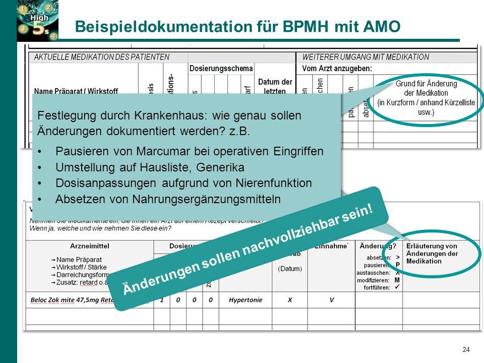 Beispieldokumentation für BPMH mit AMO