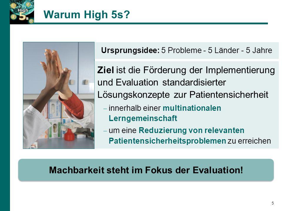 Machbarkeit steht im Fokus der Evaluation!