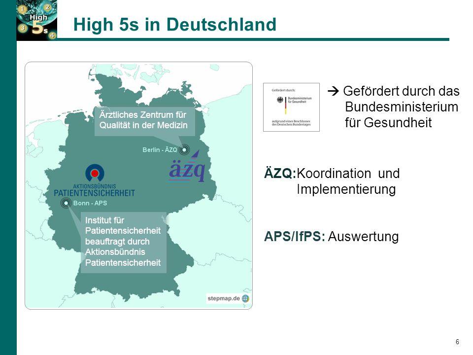 High 5s in Deutschland  Gefördert durch das