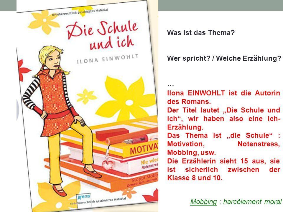 Was ist das Thema Wer spricht / Welche Erzählung … Ilona EINWOHLT ist die Autorin des Romans.