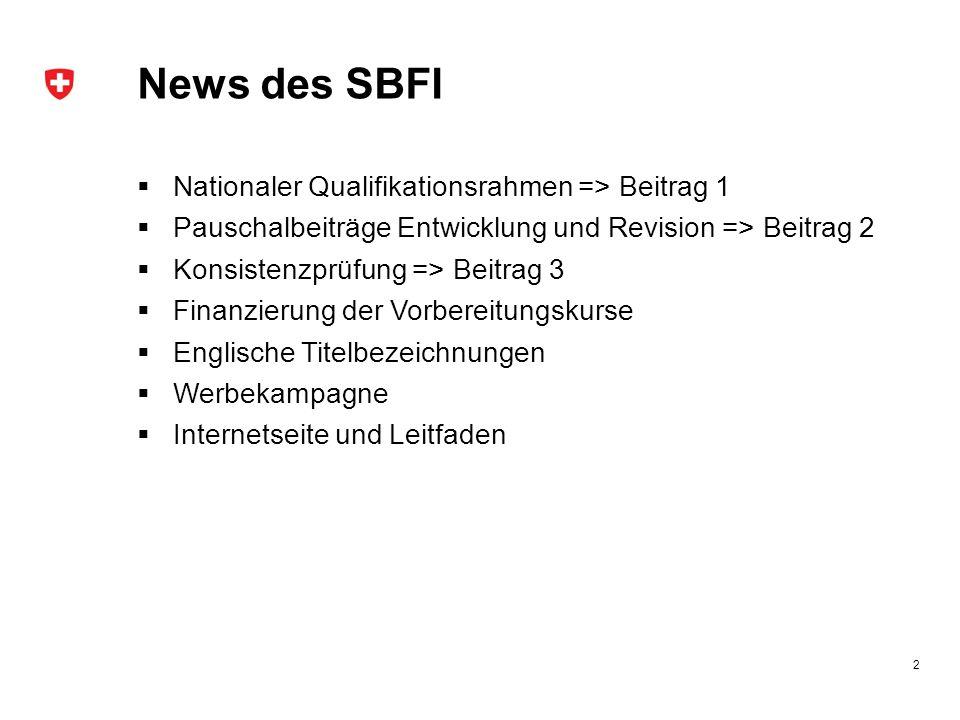News des SBFI Nationaler Qualifikationsrahmen => Beitrag 1