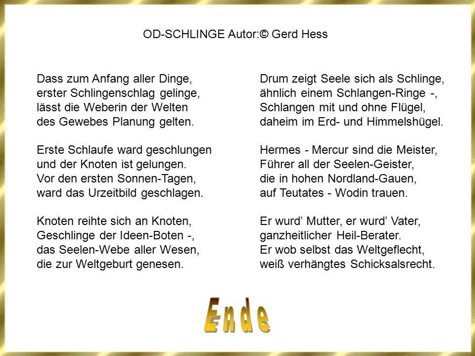 E n d e OD-SCHLINGE Autor:© Gerd Hess